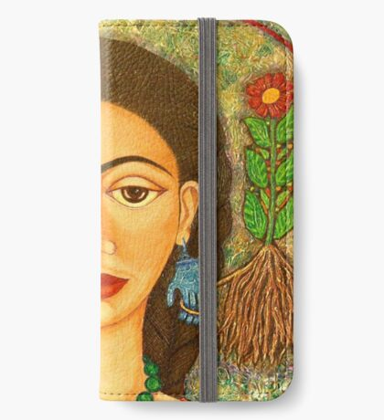Homage to Frida Kahlo iPhone Wallet