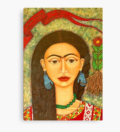 Homage to Frida Kahlo Canvas Print