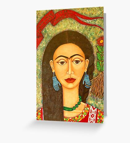 Homage to Frida  Greeting Card