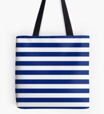 Nautical Navy Blue Horizontal Stripes Tote Bag