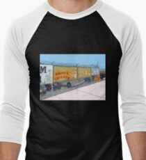 coney island shrimp and chicken Men's Baseball ¾ T-Shirt