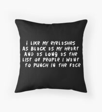 Eyelashes black and long Floor Pillow