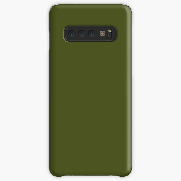 Olive Green Accent Solid Color Decor Samsung Galaxy Snap Case
