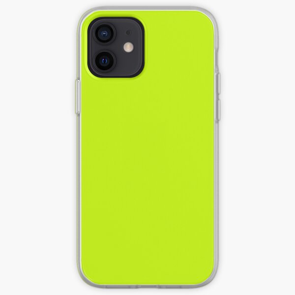 Electric Vibrant Lime Solid Color iPhone Soft Case