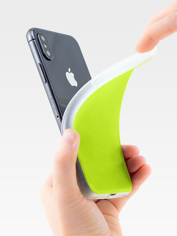 Alternate view of Electric Vibrant Lime Solid Color iPhone Case & Cover