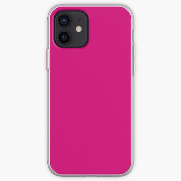 Hot Pink Fuchsia Solid Color Decor iPhone Soft Case