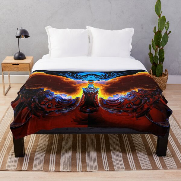 The Summoning by Spaced Painter Throw Blanket
