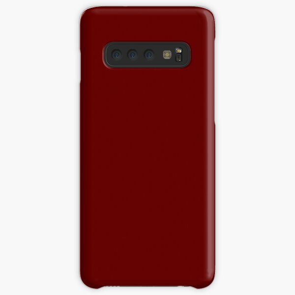 Burgundy Red Solid Color Decor Samsung Galaxy Snap Case