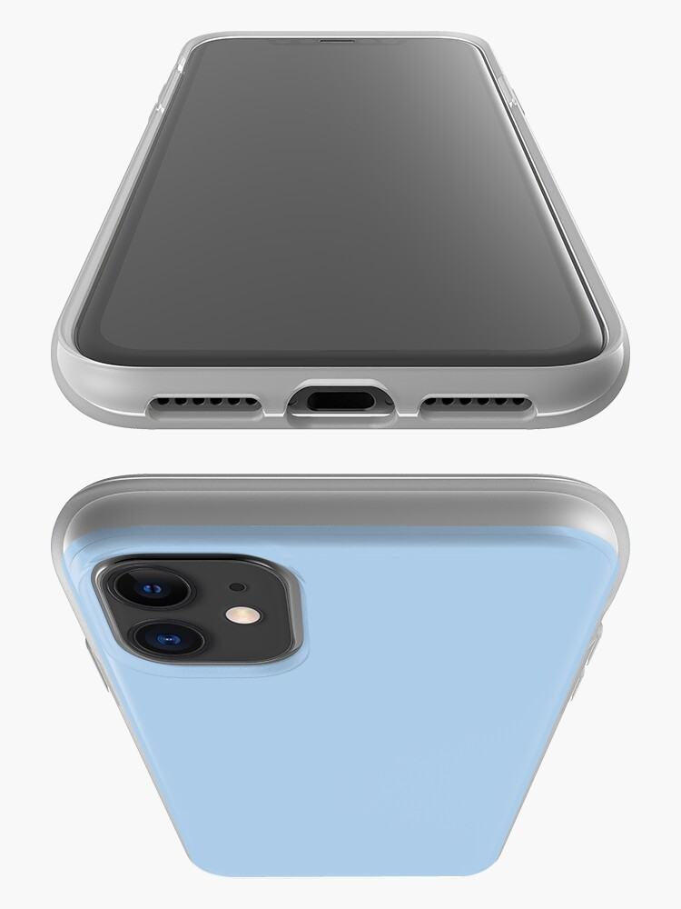 Alternate view of Baby Blue Solid Color Decor iPhone Case & Cover