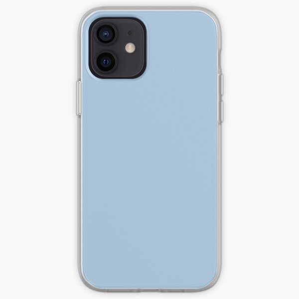 Baby Blue Solid Color Decor iPhone Soft Case