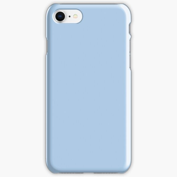 Baby Blue Solid Color Decor iPhone Snap Case