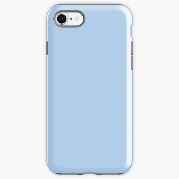 Baby Blue Solid Color Decor iPhone Tough Case