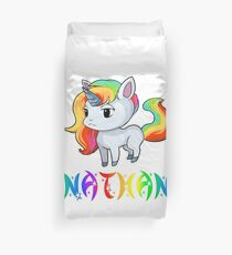 Nathan Unicorn Sticker Duvet Cover