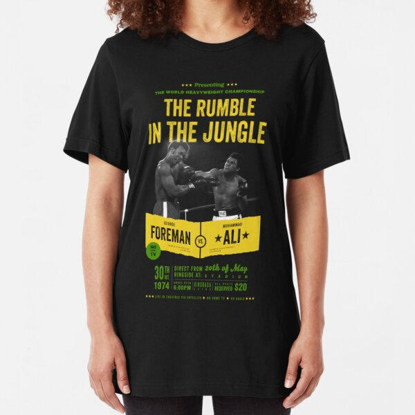 Ali vs Foreman Rumble in the Jungle Slim Fit T-Shirt