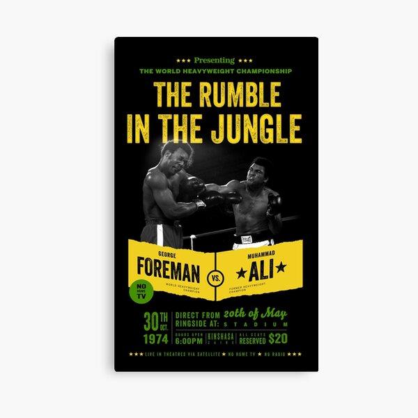 Ali vs Foreman Rumble in the Jungle Canvas Print