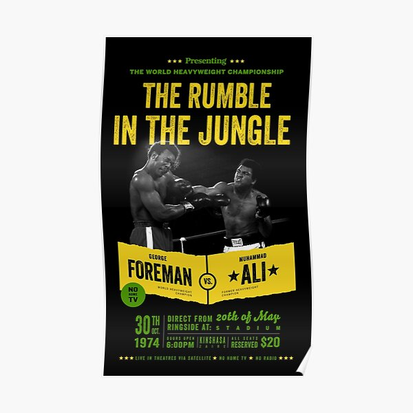 Ali vs Foreman Rumble in the Jungle Poster