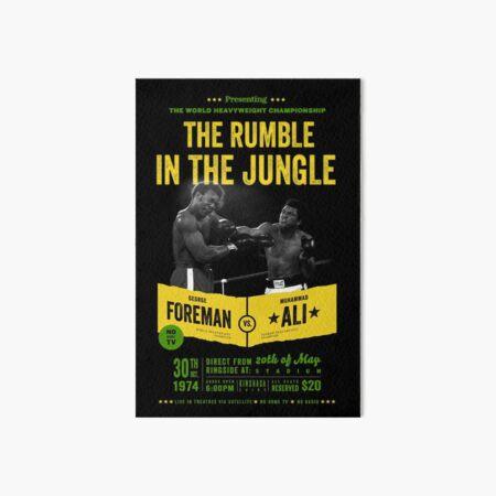 Ali vs Foreman Rumble in the Jungle Art Board Print