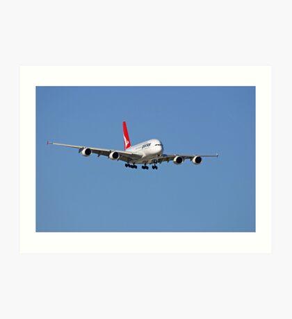 Qantas A380 On Approach  Art Print
