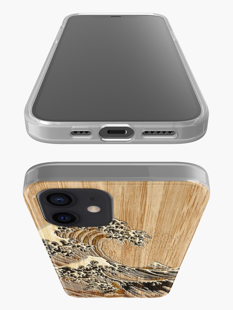 Alternate view of The Great Hokusai Wave in Bamboo Inlay Style iPhone Case & Cover