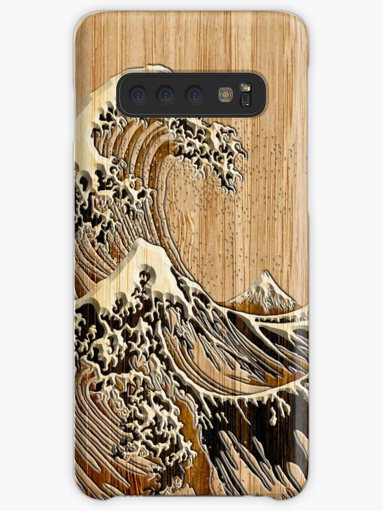 «La gran ola de Hokusai en el estilo de incrustación de bambú» de Garaga