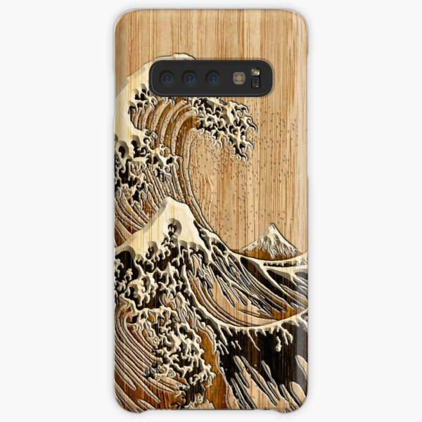 The Great Hokusai Wave in Bamboo Inlay Style Samsung Galaxy Snap Case