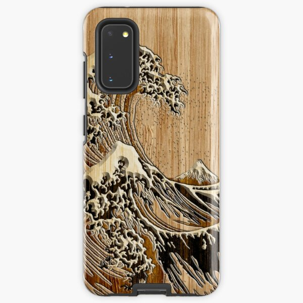 The Great Hokusai Wave in Bamboo Inlay Style Samsung Galaxy Tough Case