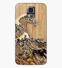 The Great Hokusai Wave in Bamboo Inlay Style Case/Skin for Samsung Galaxy