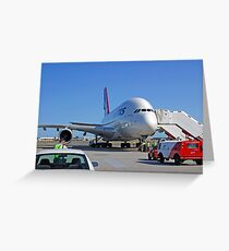 Parked A380  Greeting Card