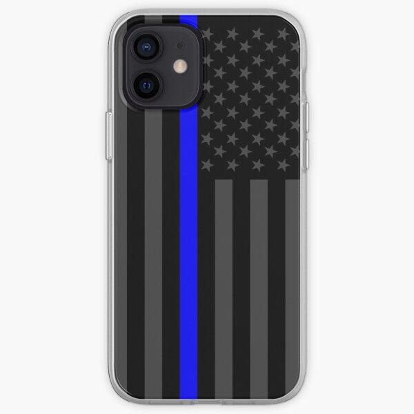 The Symbolic Thin Blue Line on American Flag iPhone Soft Case