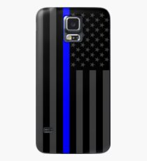 The Symbolic Thin Blue Line on American Flag Case/Skin for Samsung Galaxy