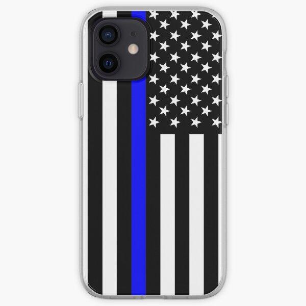 The Symbolic Thin Blue Line on US Flag iPhone Soft Case