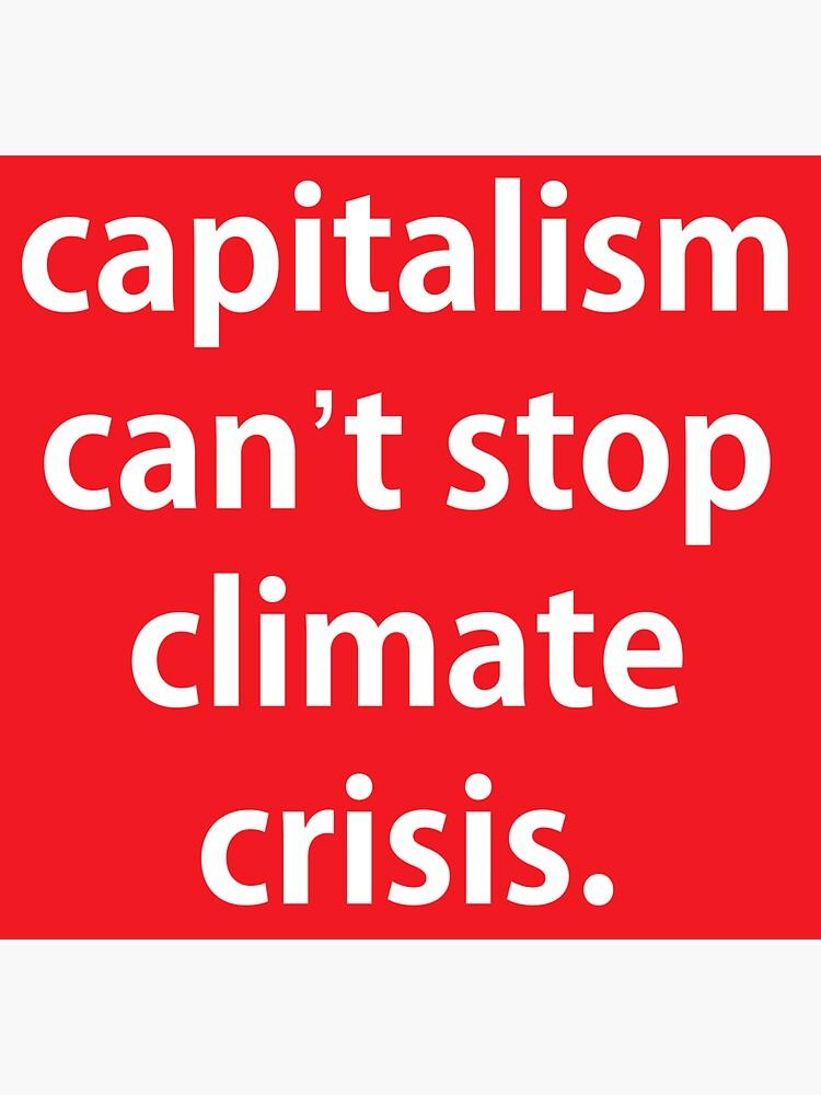 Der Kapitalismus kann die Klimakrise nicht aufhalten. von dru1138