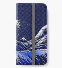 The Great Hokusai Wave chrome carbon fiber styles iPhone Wallet/Case/Skin