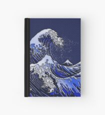 The Great Hokusai Wave chrome carbon fiber styles Hardcover Journal