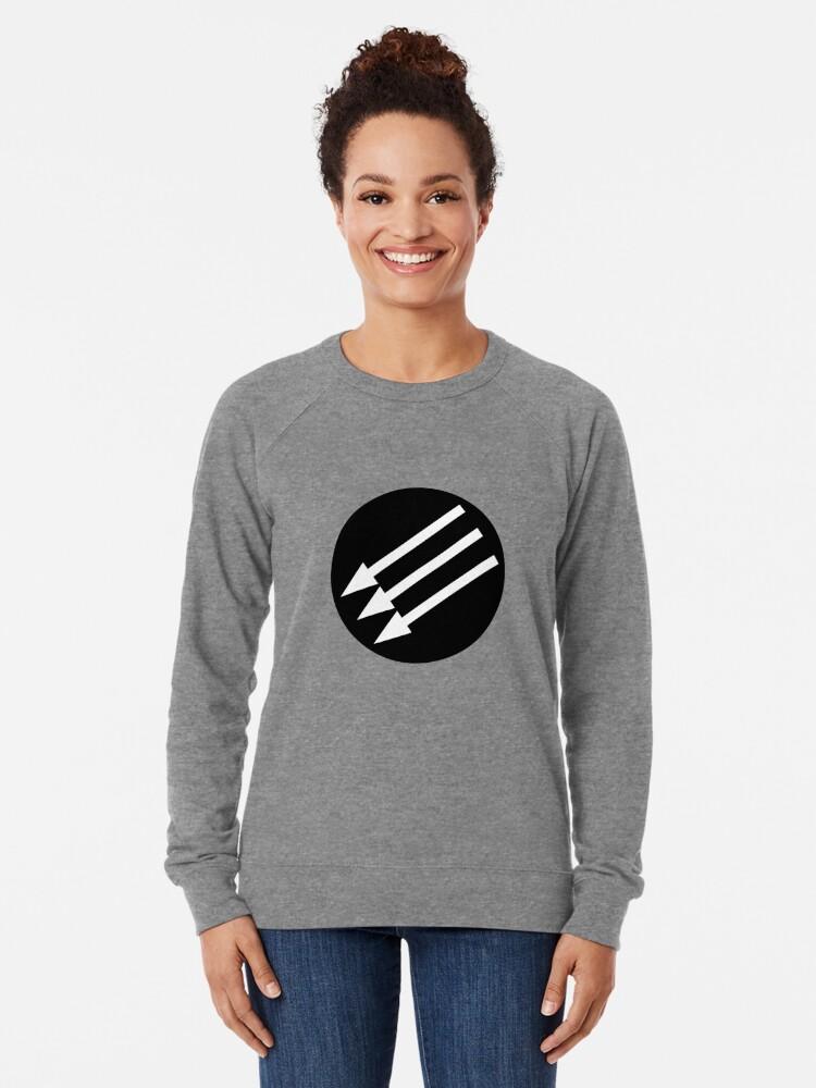Alternate view of Antifascist Circle Lightweight Sweatshirt