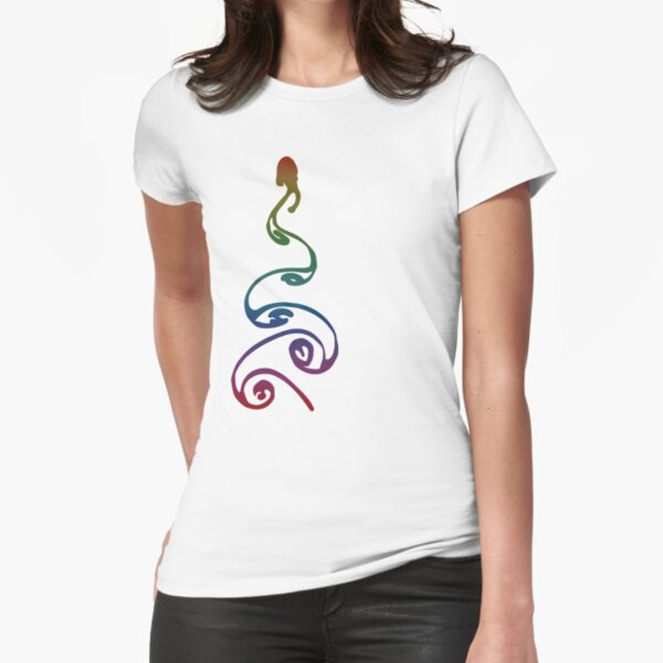 Colorful Vortex Street Variant  Fitted T-Shirt
