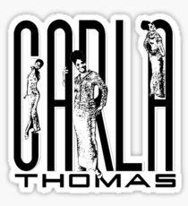 Carla Black & White Sticker