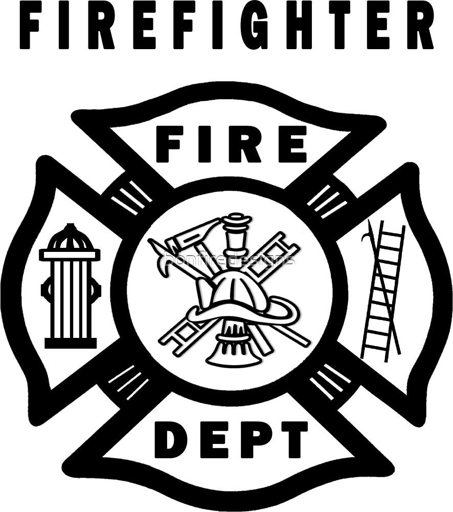 Firefighter logo by bonfiredesigns redbubble firefighter logo buycottarizona Choice Image