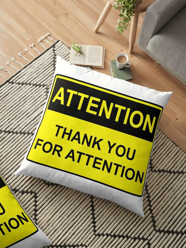 Cojines De Suelo Atención Gracias Por Su Atención De Timsurbo