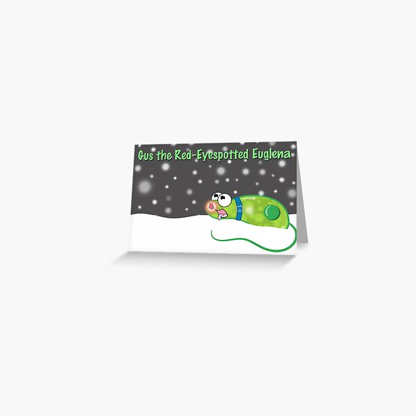 Gus the Red-Eyespotted Euglena Greeting Card