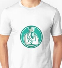 Doctor Stethoscope Standing Circle Retro T-Shirt