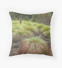 Button Grass Throw Pillow
