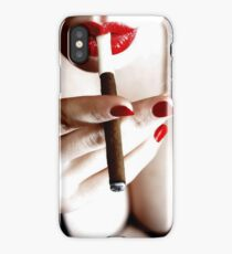 Lipstick and cigars iPhone Case