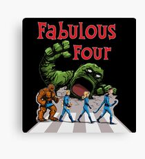 4 Superheroes Cross the Road Canvas Print