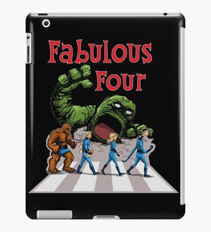 4 Superheroes Cross the Road iPad Case/Skin