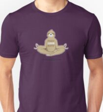 Peace Love Sloth - Meditating Floating Sloth Unisex T-Shirt