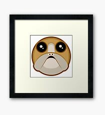 Last Jedi Porg Simple Vector Framed Print