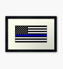 Blue Lives Matter Flag Framed Print