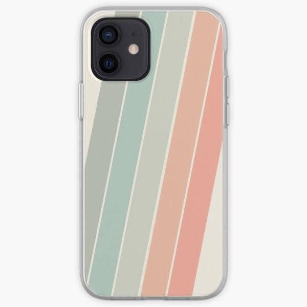 Trippin' - retro 70s socal minimal striped abstract art california surfing vintage iPhone Soft Case