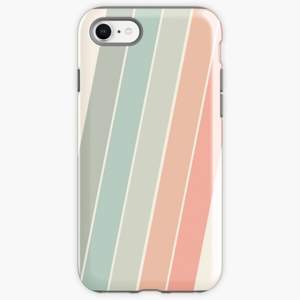 Trippin' - retro 70s socal minimal striped abstract art california surfing vintage iPhone Tough Case